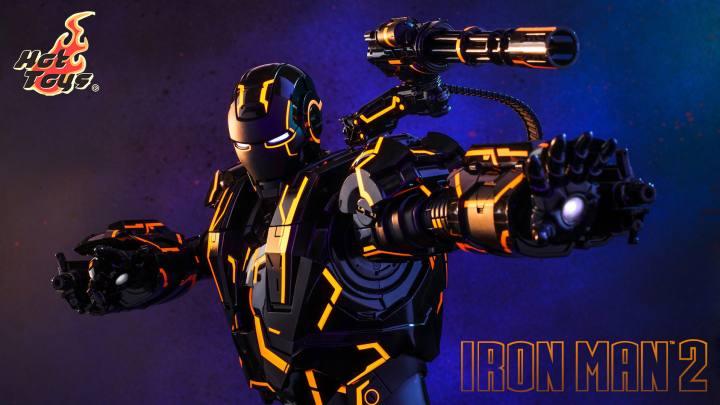 Neon Tech War Machine