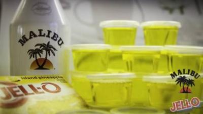 Piña Colada Jell-O Shots